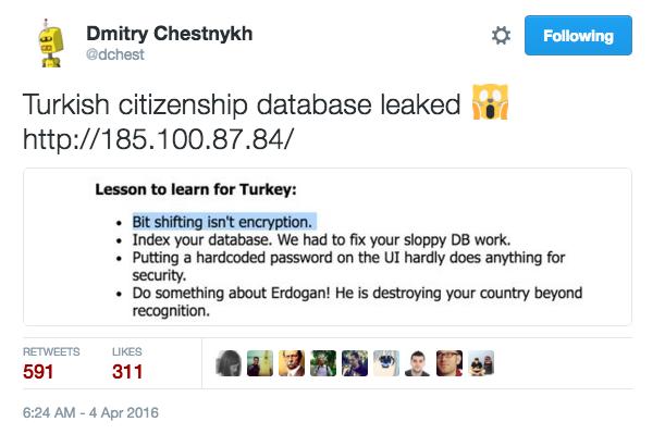 Turkey 1 - Database Leaked